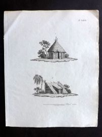 Anon C1800 Antique Print. Study of Old Houses 68